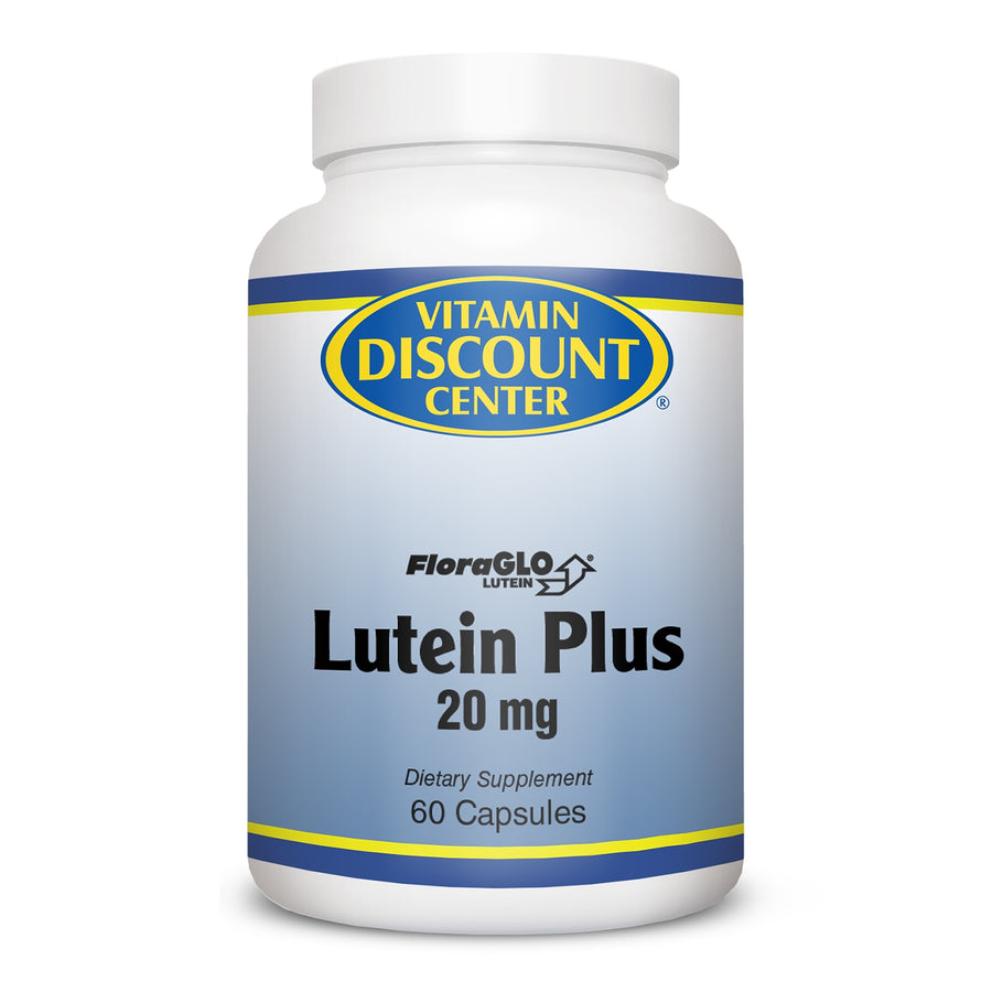 Lutein Plus 20mg FloraGLO W/Bilberry by Vitamin Discount Center - 60 Capsules
