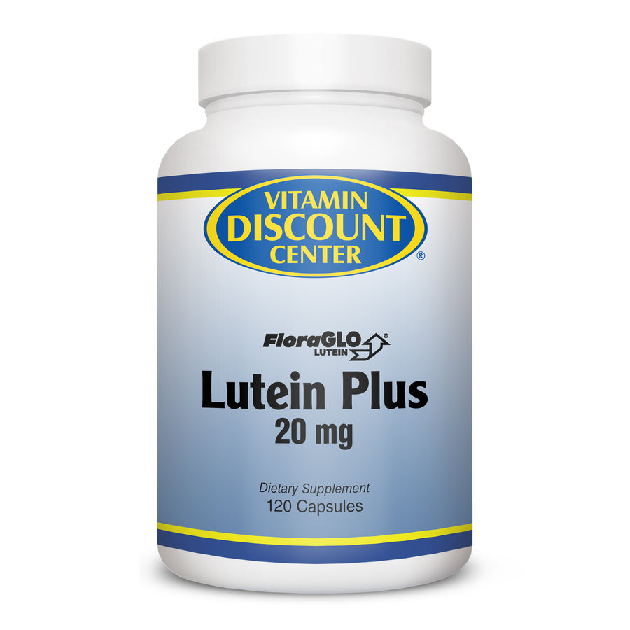Lutein Plus 20mg FloraGLO W/Bilberry by Vitamin Discount Center - 120 Capsules
