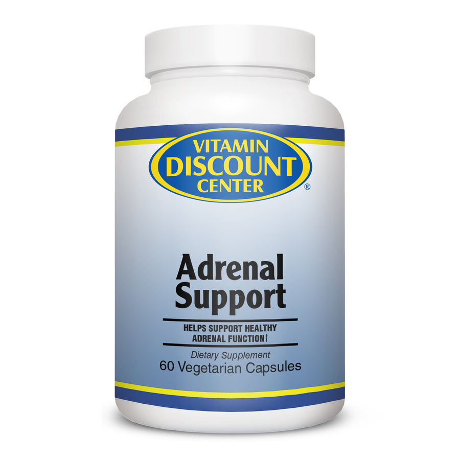 Adrenal Support By Vitamin Discount Center - 60 Vegetarian Capsules
