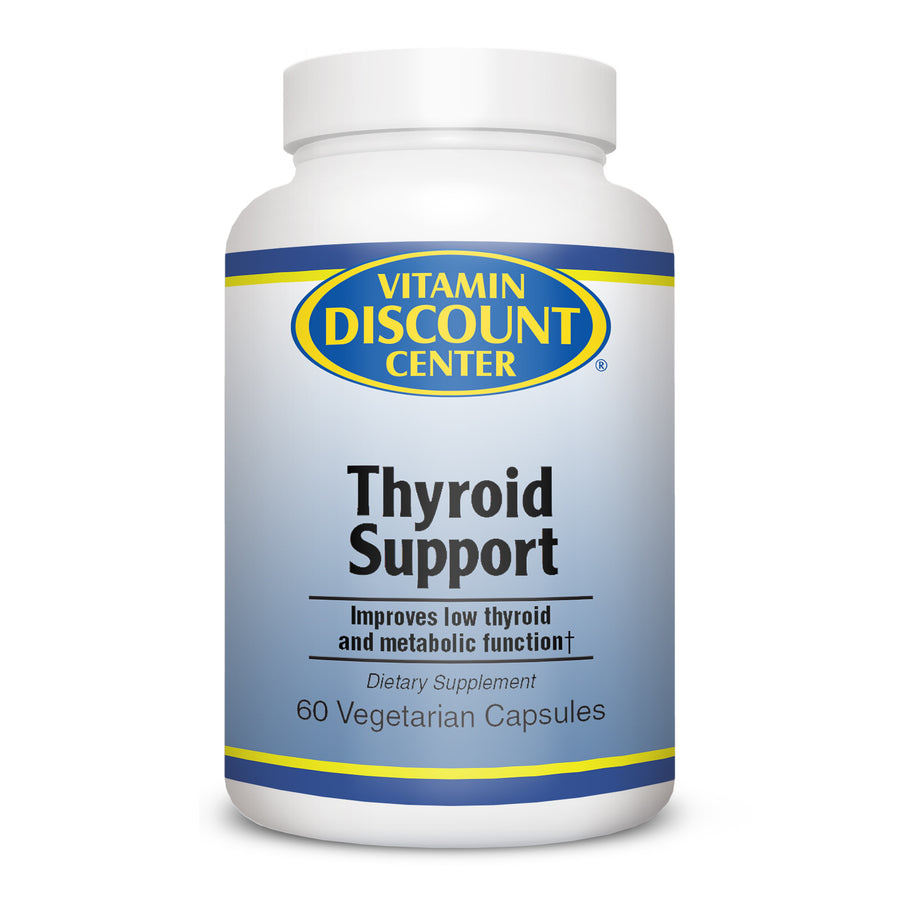 Thyroid Support By Vitamin Discount Center - 60 Capsules