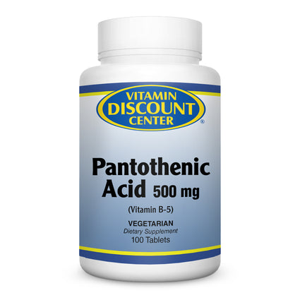 Pantothenic Acid 500 mg by Vitamin Discount Center - 100 Tablets