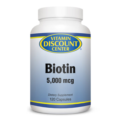 Biotin 5000 mcg by Vitamin Discount Center -  120 Capsules