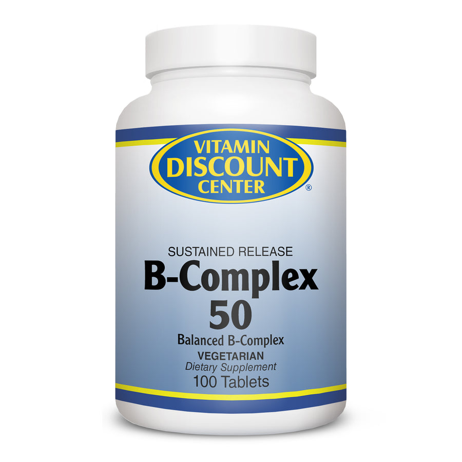 B-Complex 50 Sustained Release by Vitamin Discount Center 100Tablets