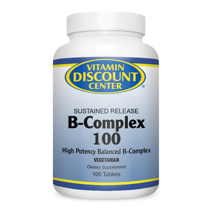 B-Complex 100mg Sustained Release - Vitamin Discount Center - 100 Tabs Vitamin B