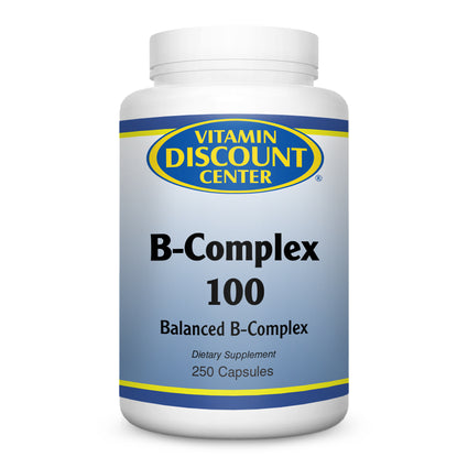 B-Complex 100 by Vitamin Discount Center - 250 Capsules Vitamin B