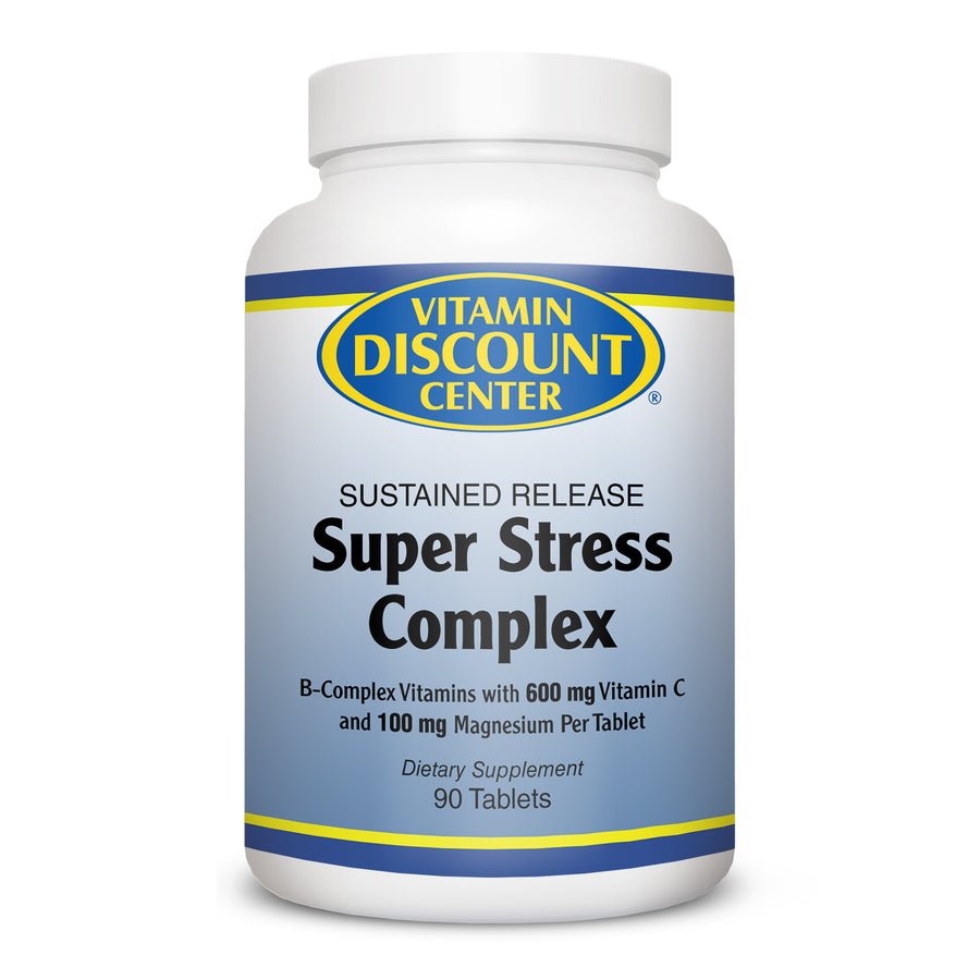 Super Stress Complex Sustained Release by Vitamin Discount Center 90 Tablets