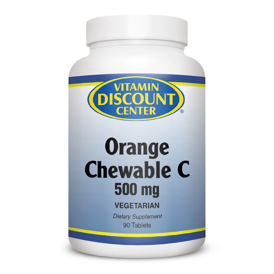 Orange Chewable C-500 mg by Vitamin Discount Center 90 Tablets