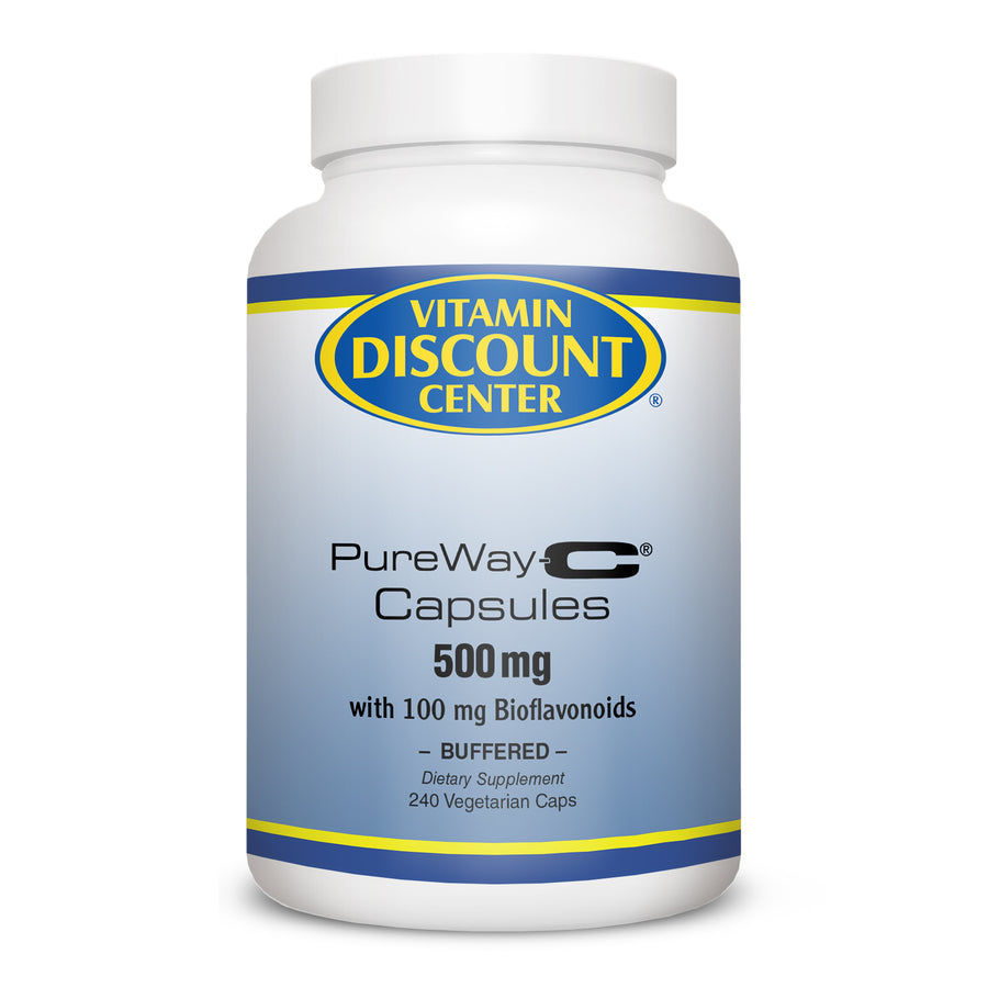 PureWay-C Vitamin C 500mg with Bioflavonoids By Vitamin Discount Center 240 Caps