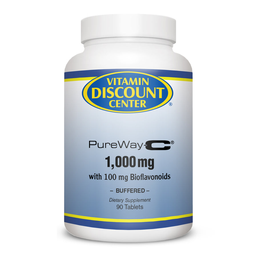 PureWay-C Vitamin C 1000mg with Bioflavonoids Vitamin Discount Center - 90 Tabs