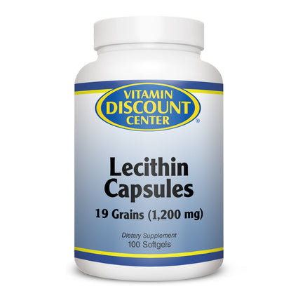 Clearance Lecithin Capsules 19 Grain - 100 Softgels Expires 12/10/2019