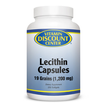 Lecithin Capsules 19 Grains by Vitamin Discount Center - 250 Softgels
