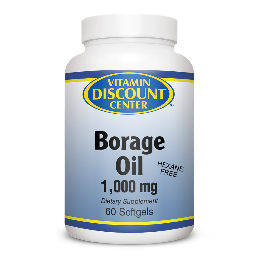 Borage Oil 1000 mg by Vitamin Discount Center - 60 Softgels