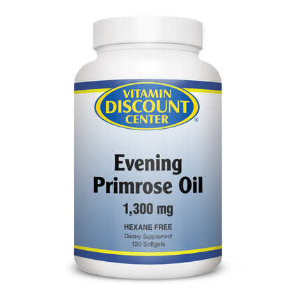 Evening Primrose Oil 1300mg By Vitamin Discount Center - 120 Softgels