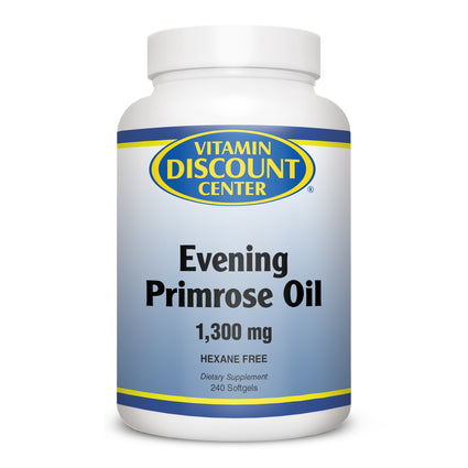 Evening Primrose Oil 1300 mg by Vitamin Discount Center 240 Softgels