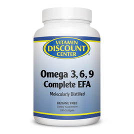 Omega 3 6 9 Complete EFA By Vitamin Discount Center - 240 Softgels
