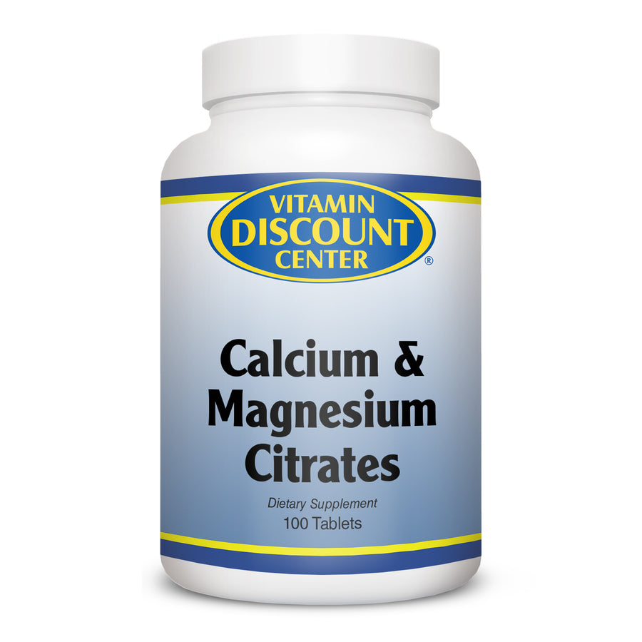 Cal-Mag Citrates by Vitamin Discount Center 100 Tablets