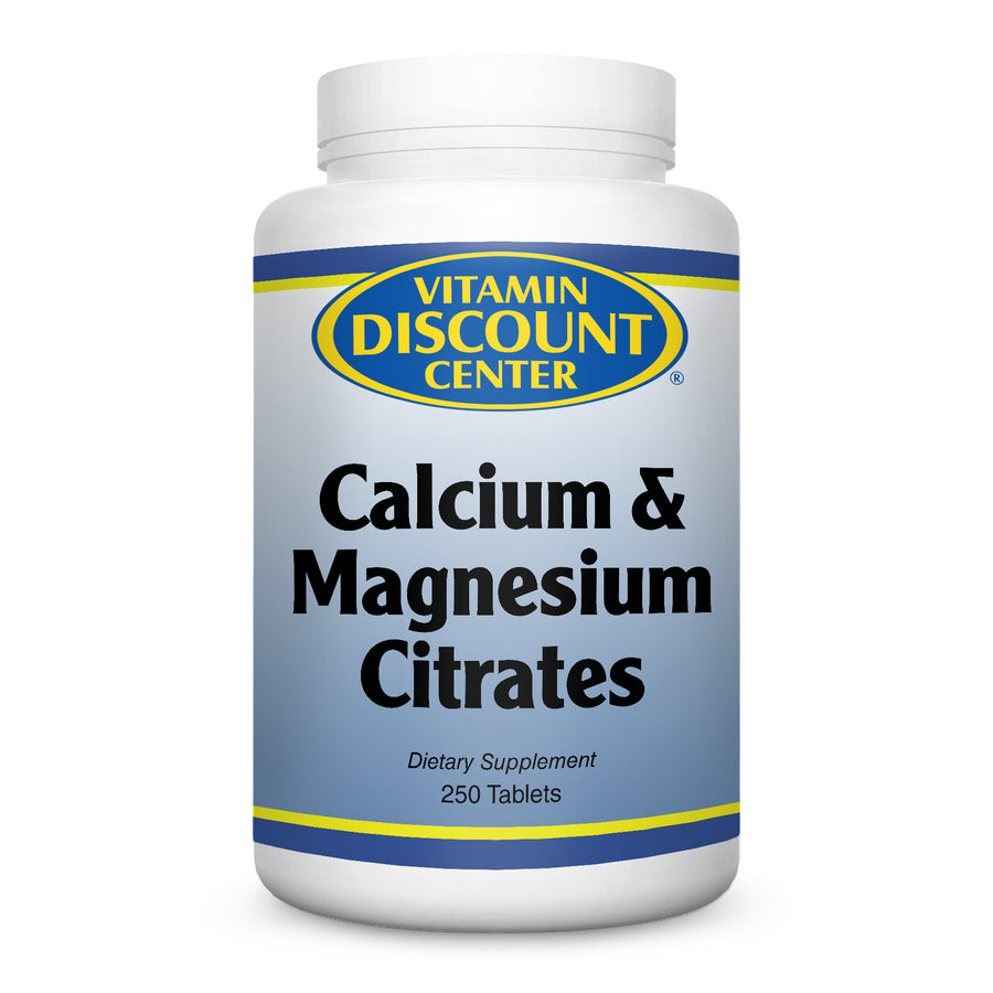 Calcium & Magnesium Citrates by Vitamin Discount Center - 250 Tablets