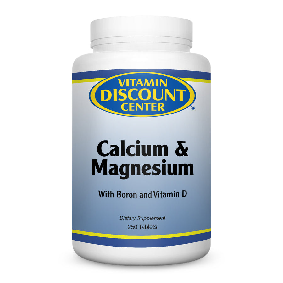 Calcium & Magnesium Hi-Potency by Vitamin Discount Center - 250 Tablets