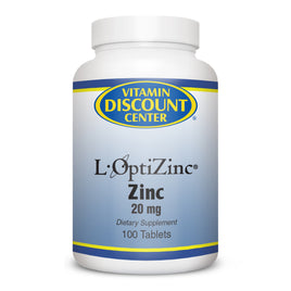 L-OptiZinc 20 mg by Vitamin Discount Center 100 Tablets