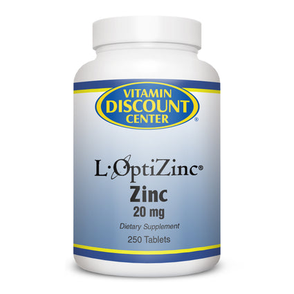 L-OptiZinc 20 mg by Vitamin Discount Center 250 Tablets