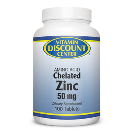 Zinc 50 mg Amino Acid by Vitamin Discount Center 100 Tablets