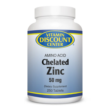 Zinc 50 mg Amino Acid by Vitamin Discount Center - 250 Tablets