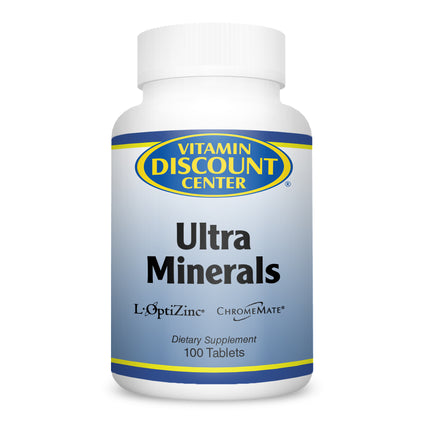 Ultra Minerals by Vitamin Discount Center 100 Tablets