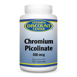 Chromium Picolinate 200mcg by Vitamin Discount Center - 180 Capsules