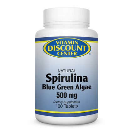 Spirulina 500 mg by Vitamin Discount Center 100 Tablets