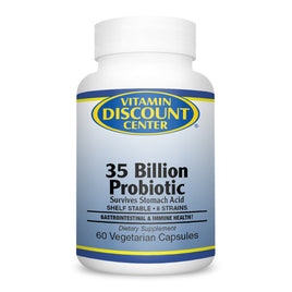 Probiotic 35 Billion By Vitamin Discount Center - 60 Vegetarian Capsules