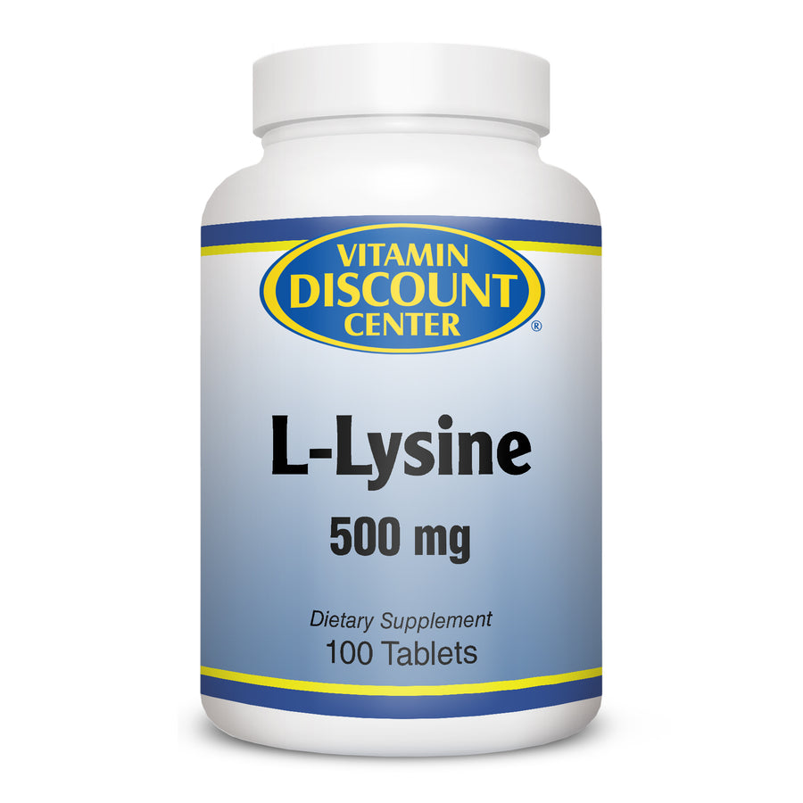 L-Lysine 500 mg by Vitamin Discount Center - 100 Tablets