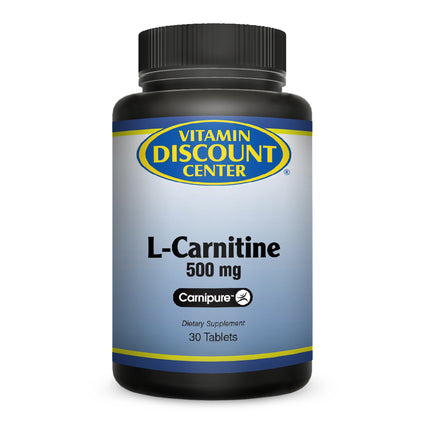 L-Carnitine 500 mg by Vitamin Discount Center 30 Tablets