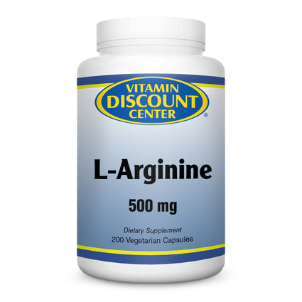 L-Arginine 500mg by Vitamin Discount Center - 200 Vegetarian Caps