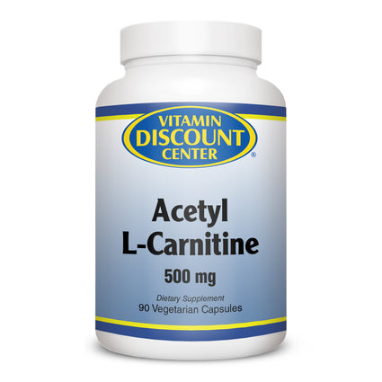 Acetyl L-Carnitine 500mg By Vitamin Discount Center -  90 Vegetarian Capsules