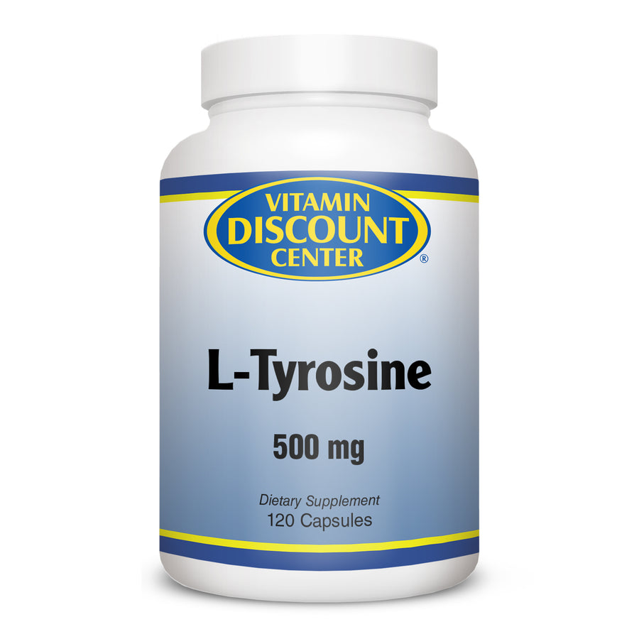 Tyrosine 500mg by Vitamin Discount Center 120 Capsules