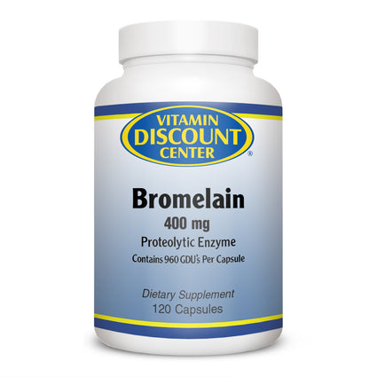 Bromelain 400 mg by Vitamin Discount Center - 120 Capsules