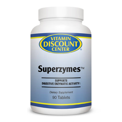 Superzymes Digestive Enzyme Supplement by Vitamin Discount Center - 90 Tablets