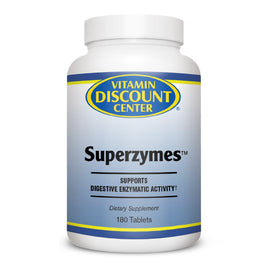 Superzymes Digestive Enzyme Supplement by Vitamin Discount Center - 180 Tablets