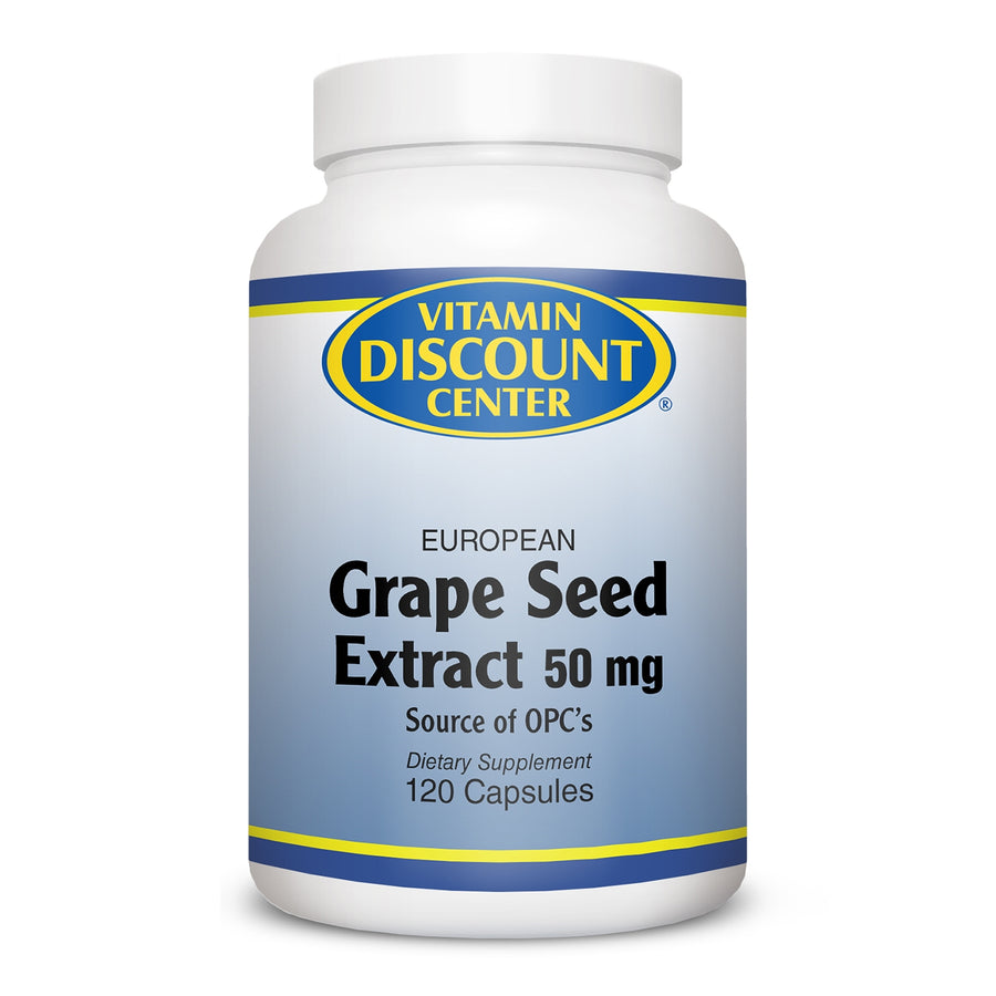 Grape Seed Extract 50MG by Vitamin Discount Center 120 Caspsules
