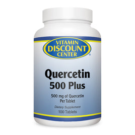 Vitamin Discount Center Quercetin 500 Plus w/ Bromelain and Turmeric 100 Tablets