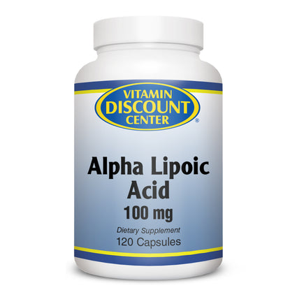 Alpha Lipoic Acid 100mg By Vitamin Discount Center -  120 Capsules