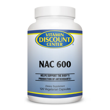NAC 600 by Vitamin Discount Center - 120 Vegetarian Capsules