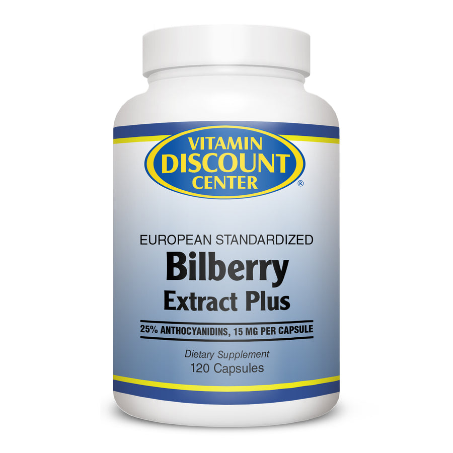 Bilberry Extract Plus by Vitamin Discount Center 120 Capsules