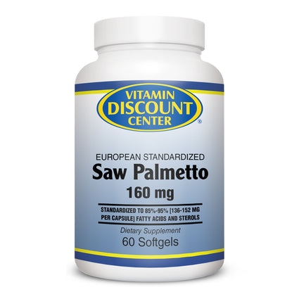 Saw Palmetto Extract 160 mg by Vitamin Discount Center 60 Softgels