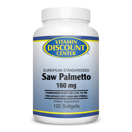 Saw Palmetto Extract 160 mg by Vitamin Discount Center 120 Softgels
