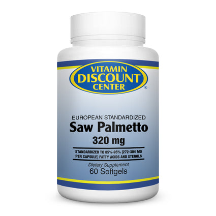 Saw Palmetto Berry Extract 320 mg by Vitamin Discount Center 60 Softgels