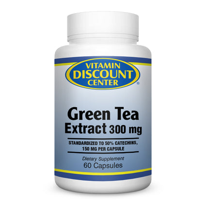 Green Tea Extract 300 mg by Vitamin Discount Center 60 Capsules