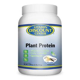 Plant Protein Vanilla by Vitamin Discount Center - 1.1 Pound