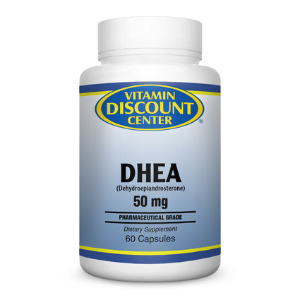 DHEA 50mg By Vitamin Discount Center - 60 Capsules
