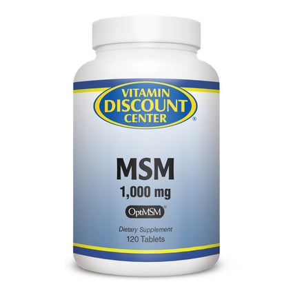 MSM 1000 mg by Vitamin Discount Center 120 Tablets